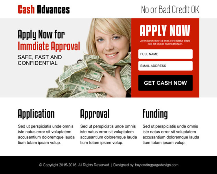 get cash in advance attractive ppv landing page design