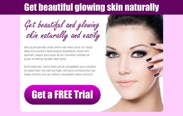 get beautiful and glowing skin naturally and easily converting ppv landing page design template