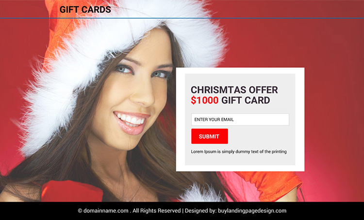 gift card coupon code email capturing PPV design