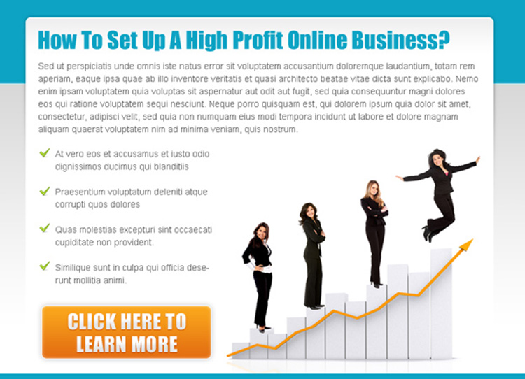 set up a high profit online business ppv landing page