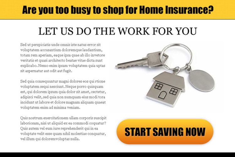 home insurance clean call to action ppv landing page design template