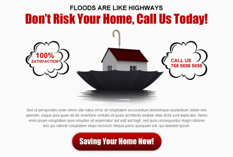 dont risk your home clean and appealing home insurance ppv landing page design