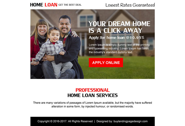 home loan best deal ppv landing page design