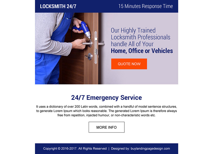 trained locksmith professional ppv landing page design