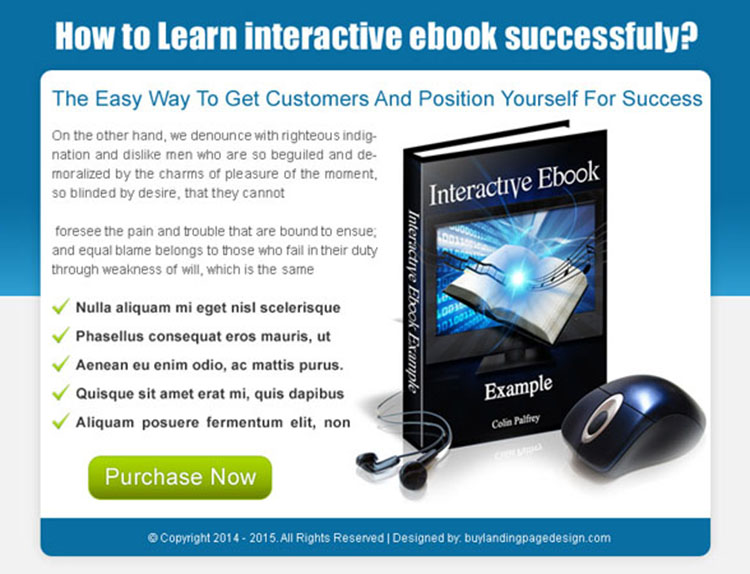 easy way to get customers ebook ppv landing page design