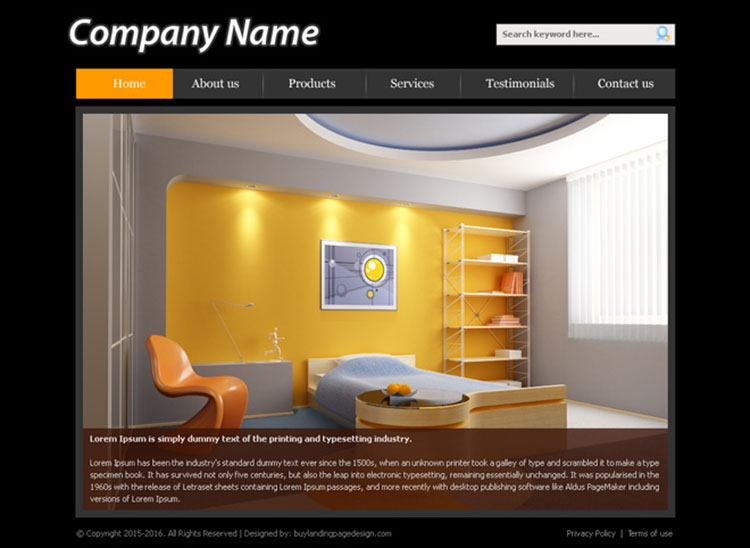 interior design company design layout psd for sale