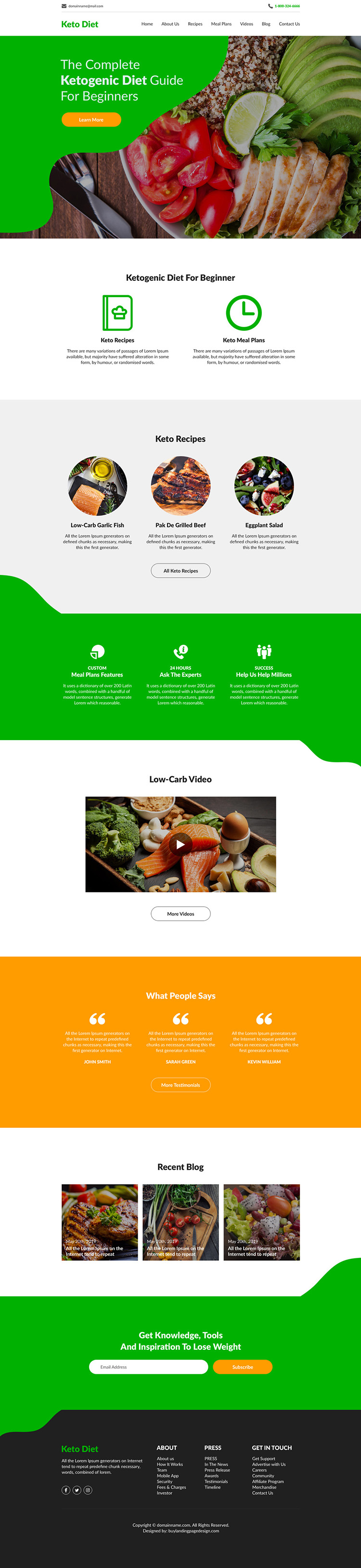 keto diet best weight loss responsive website design