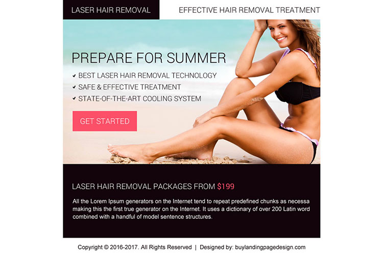 best laser hair removal ppv landing page design