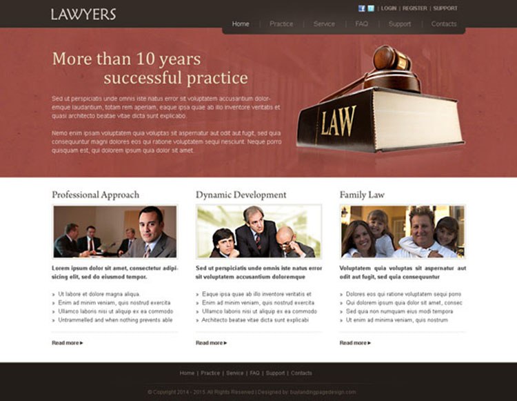 lawyers website template design psd for lawyers association
