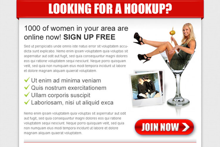 looking for a hookup dating effective ppv landing page design