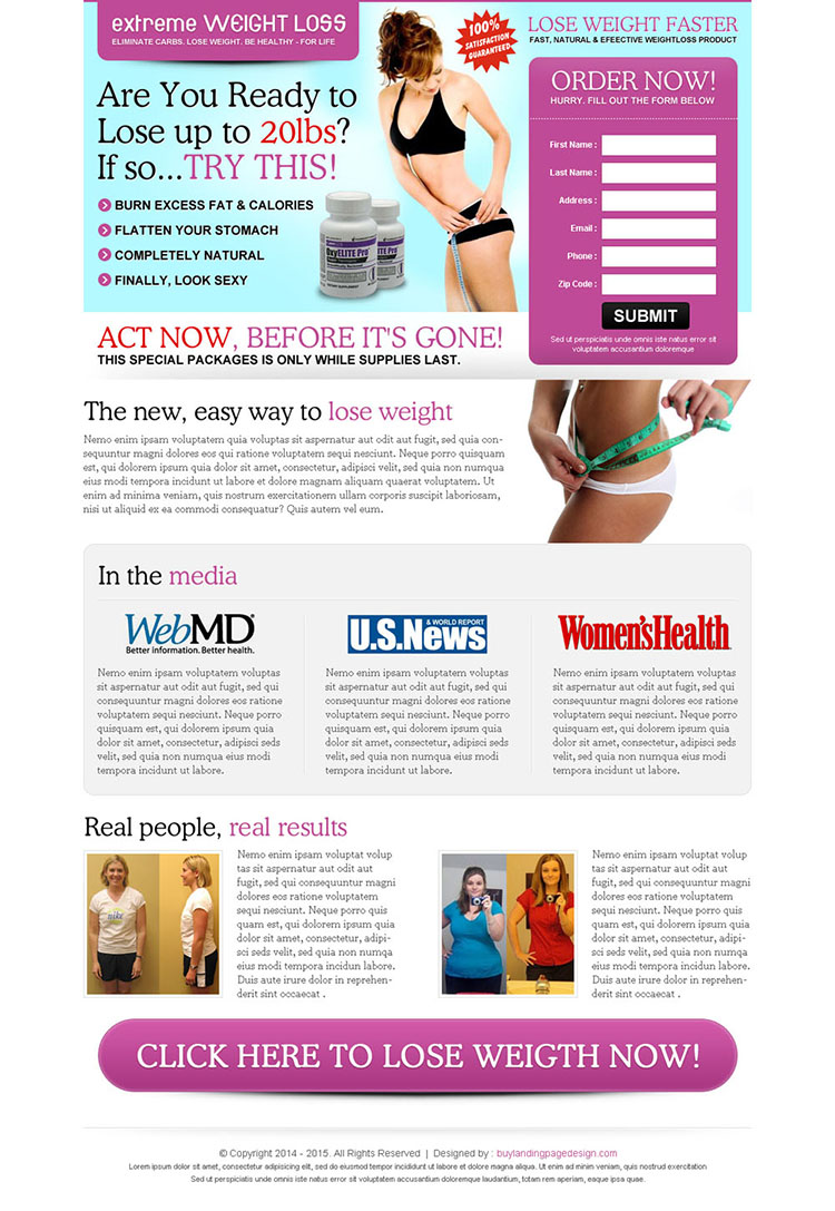 free lead capture page templates - lose weight faster landing page 005 weight loss landing