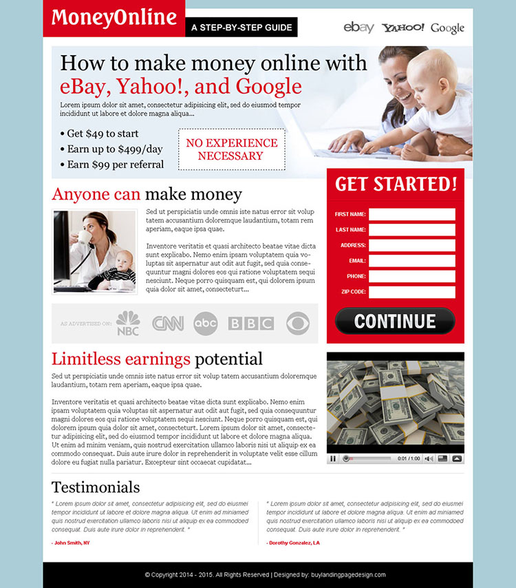 make money online step by step guide effective lander design