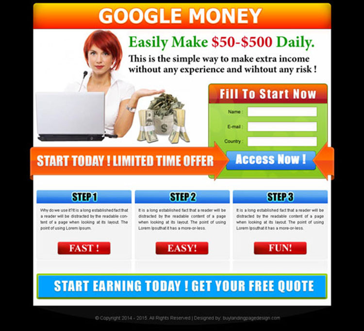 simple way to make extra income with google simple landing page