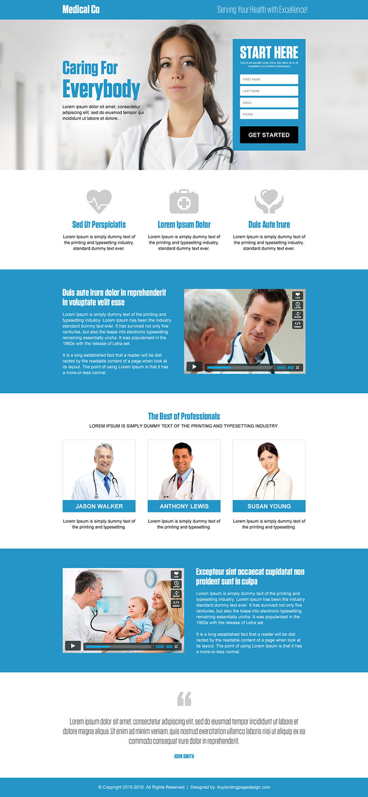medical company effective lead gen landing page design