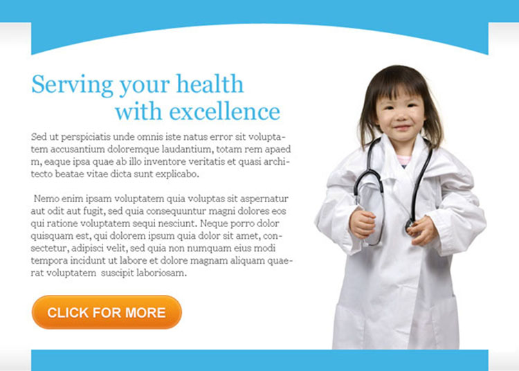 serving your health with excellence ppv landing page design