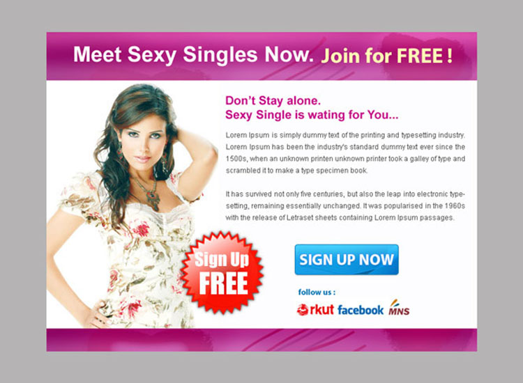 sexy single sign up lead capture ppv landing page design