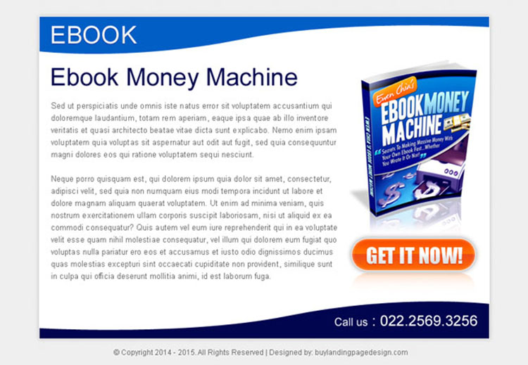 ebook money machine strong and attractive ppv landing page design