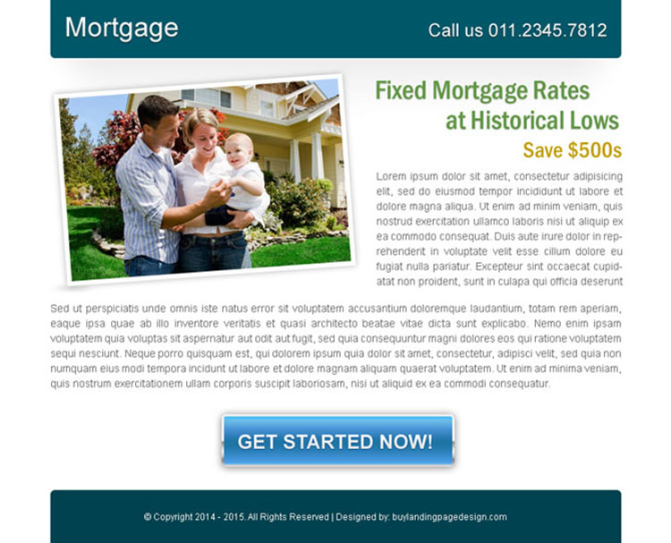 fixed mortgage rates effective ppv landing page design
