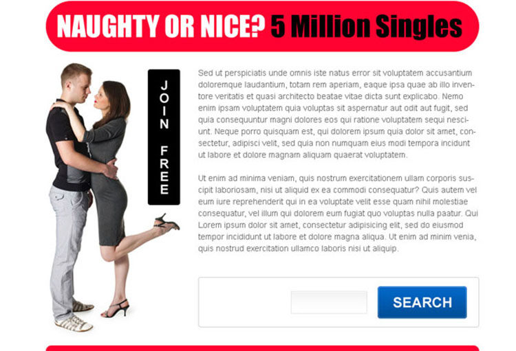 singles are waiting for you appealing dating ppv landing page design