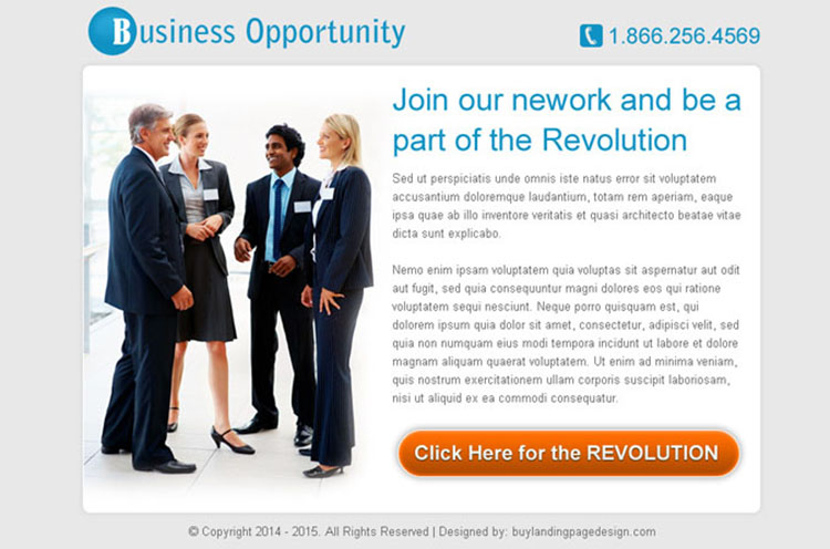 business opportunity network simple and effective ppv landing page design