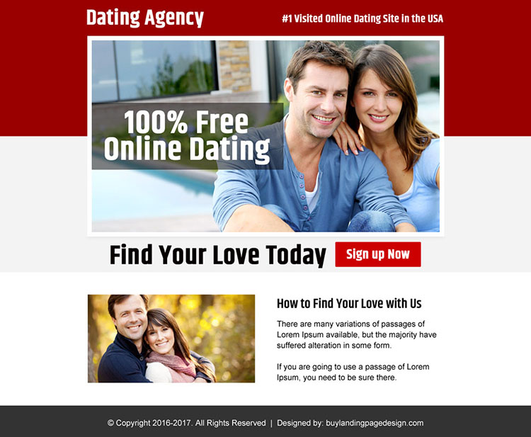 online dating agency sign up capturing ppv landing page