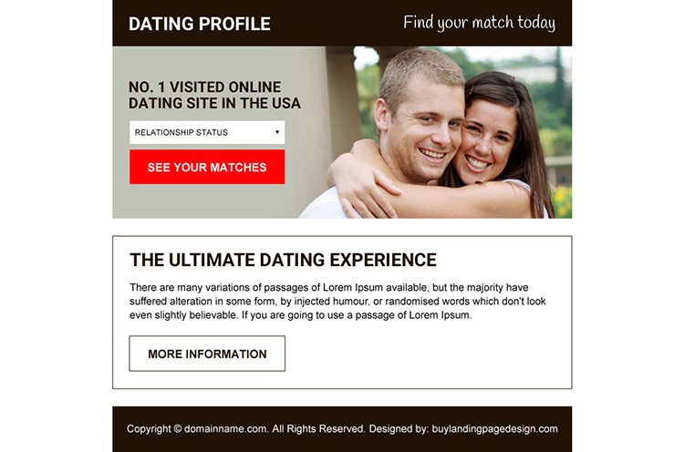 professional online dating ppv landing page design