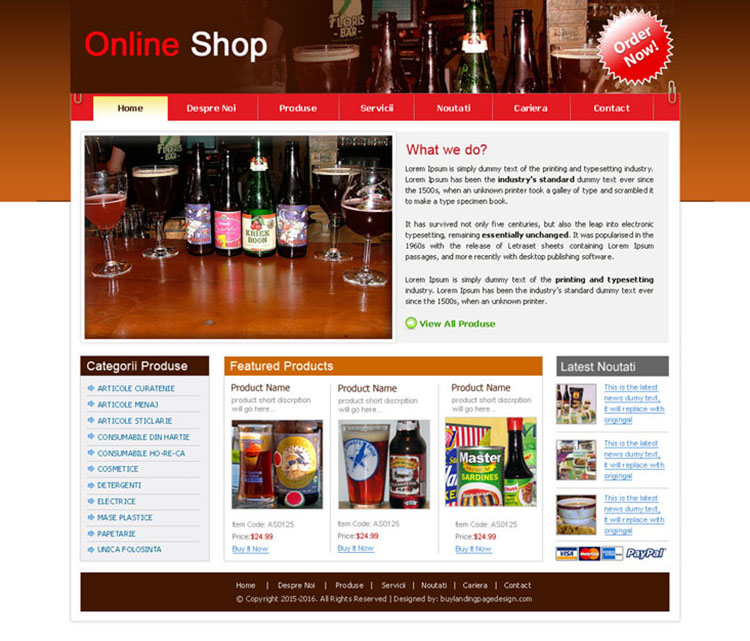 Online grocery shop design psd sale 054 website template for Online websites for shopping