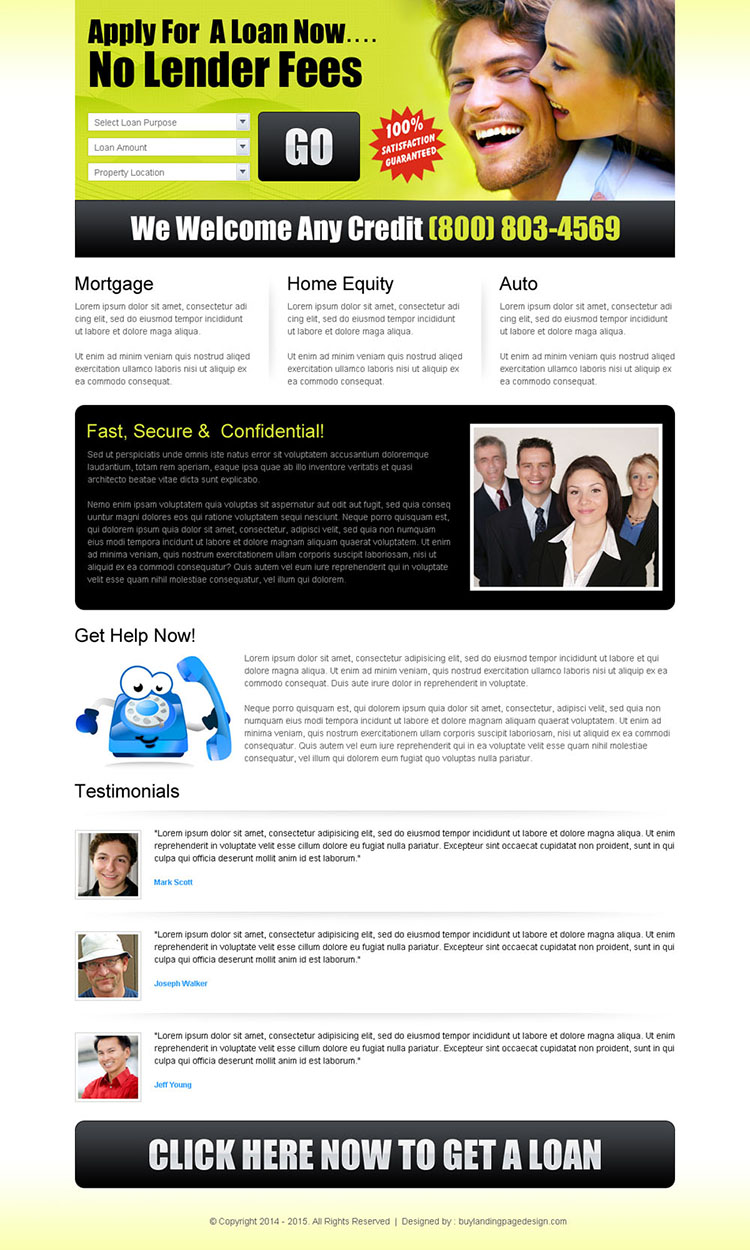 online loan lead capture landing page to boost your conversion