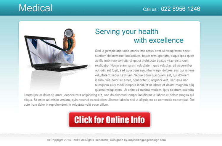 serving your health with excellence effective medical ppv landing page design