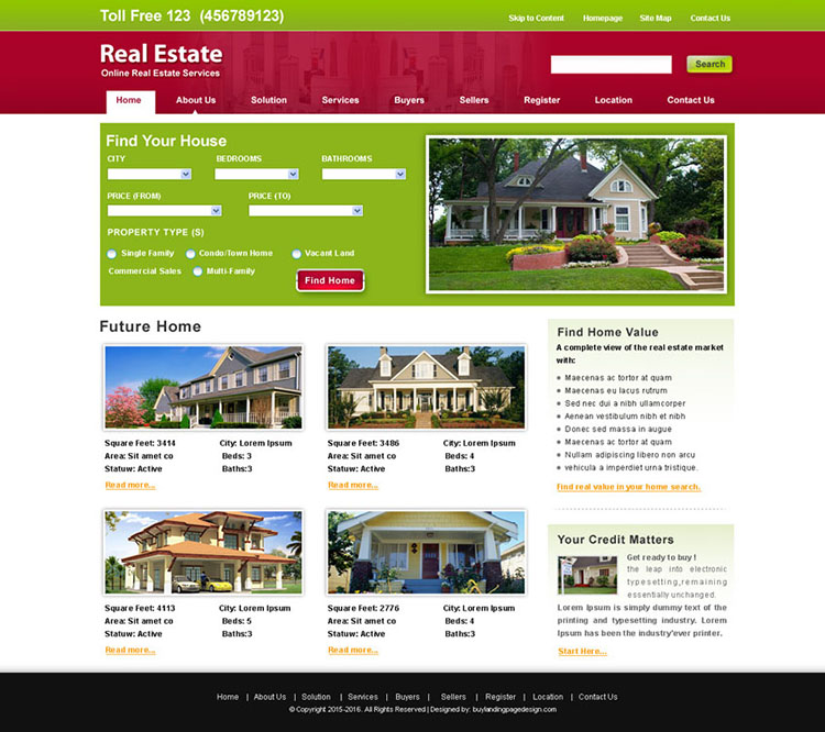 online real estate services website