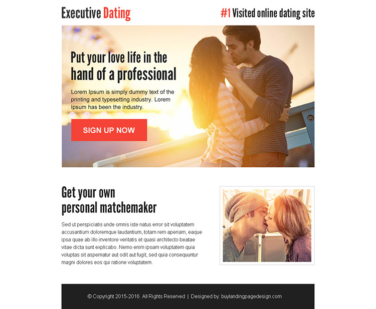 personal match maker sign up lead capture ppv landing page