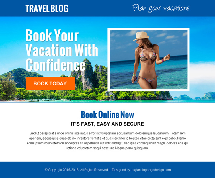 plan and book your vacation call to action ppv landing page