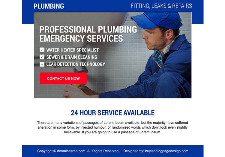 effective emergency plumbing services ppv design