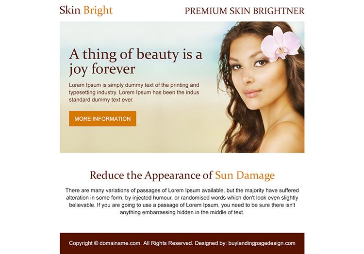 premium skin brightener PPV design