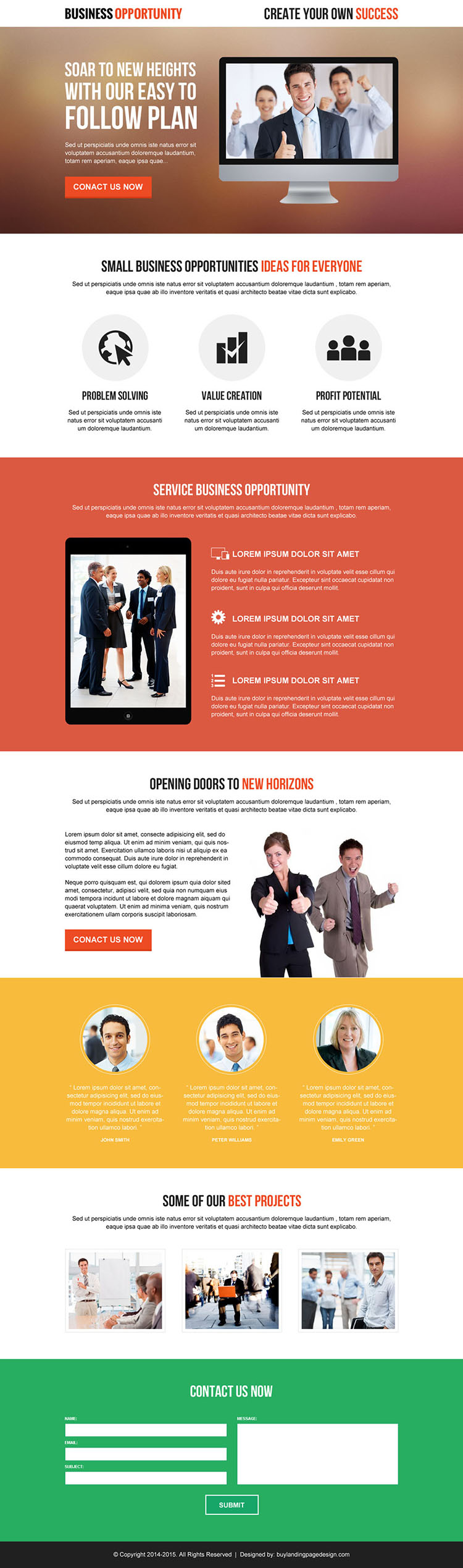professional and clean corporate business solution lead gen responsive landing page design