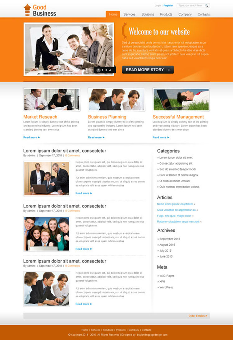 professional business website template psd