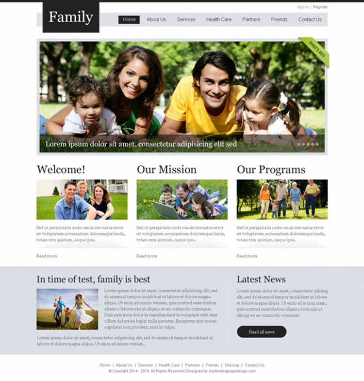 clean and professional website template design psd for creating your beautiful website