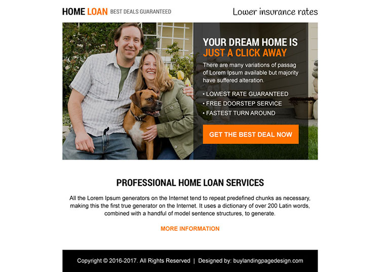 professional home loan service ppv landing page