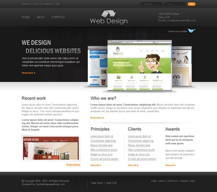 professional and creative web design company website template design psd