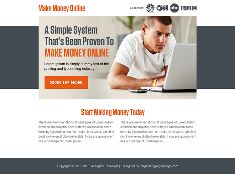 proven ways to make money online ppv landing page design