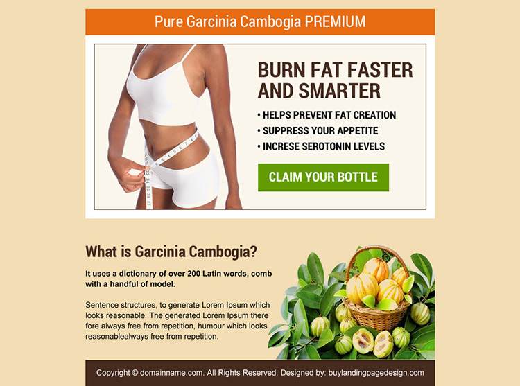 pure garcinia product selling best ppv landing page