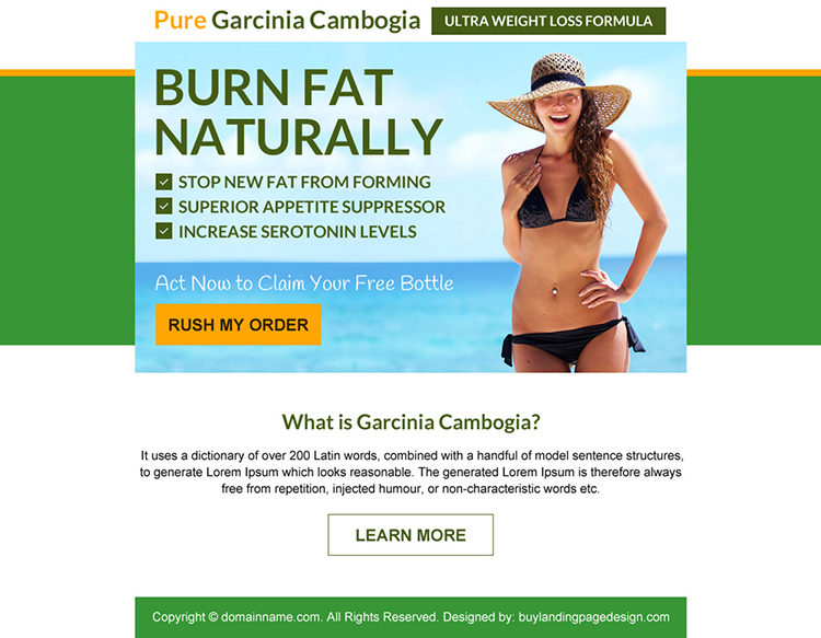 garcinia cambogia weight loss formula free bottle ppv design