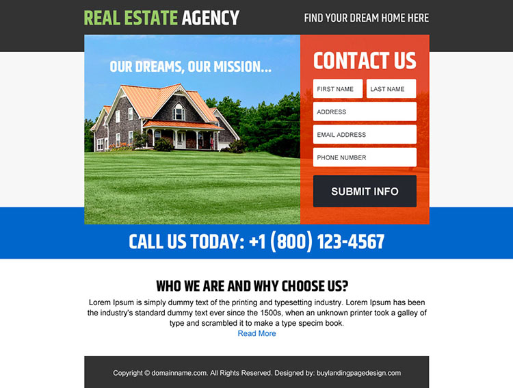 real estate agency lead generating ppv design