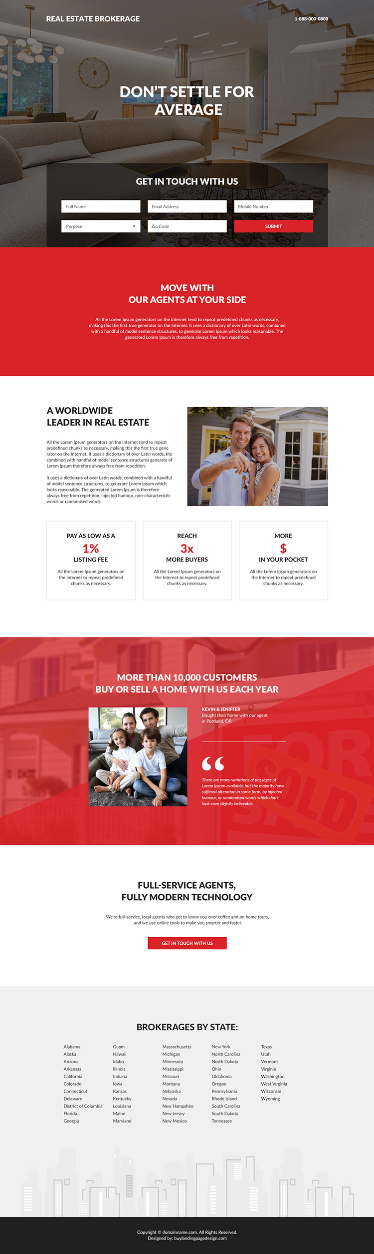 real estate brokerage lead capture responsive landing page