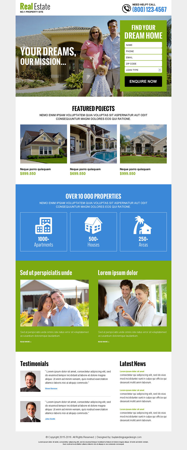 real estate free quote service lead gen landing page