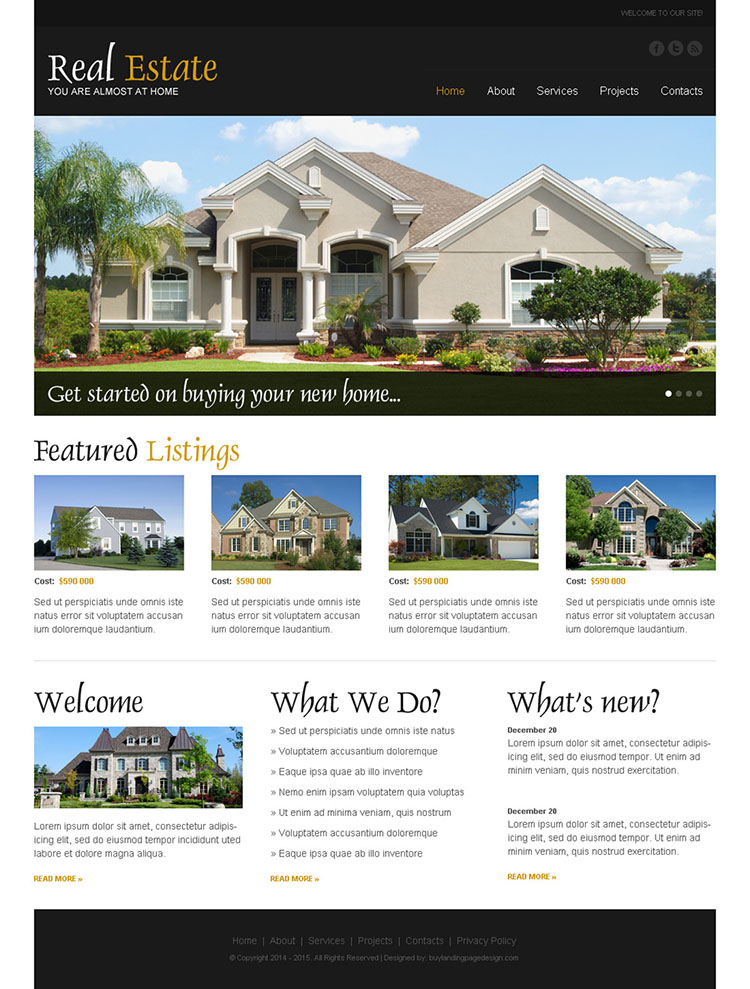 real estate converting html website template to boost your conversion rates