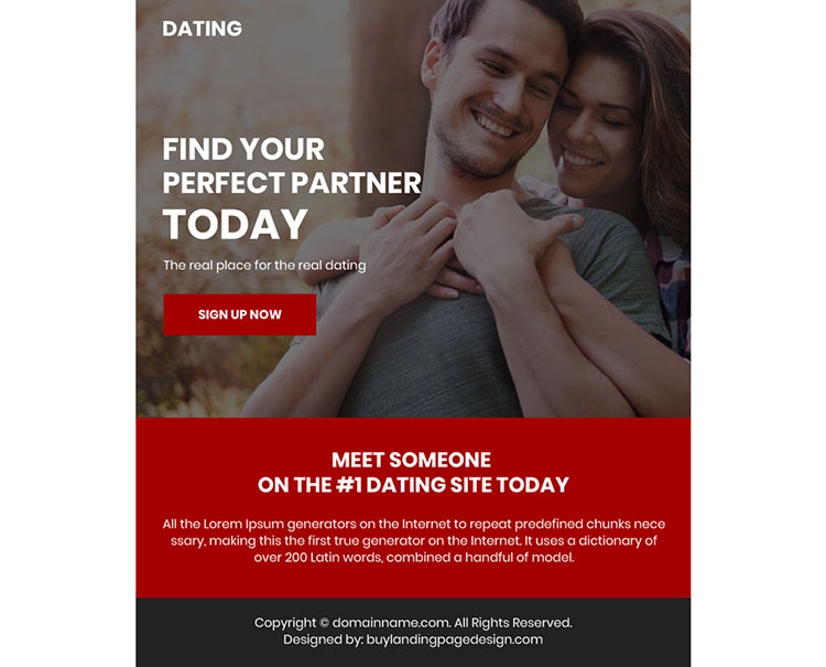 minimal dating sign up capturing ppv landing page design
