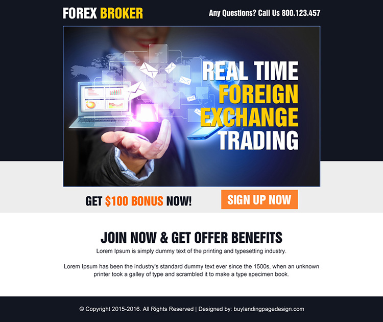 real time foreign exchange trading ppv landing page