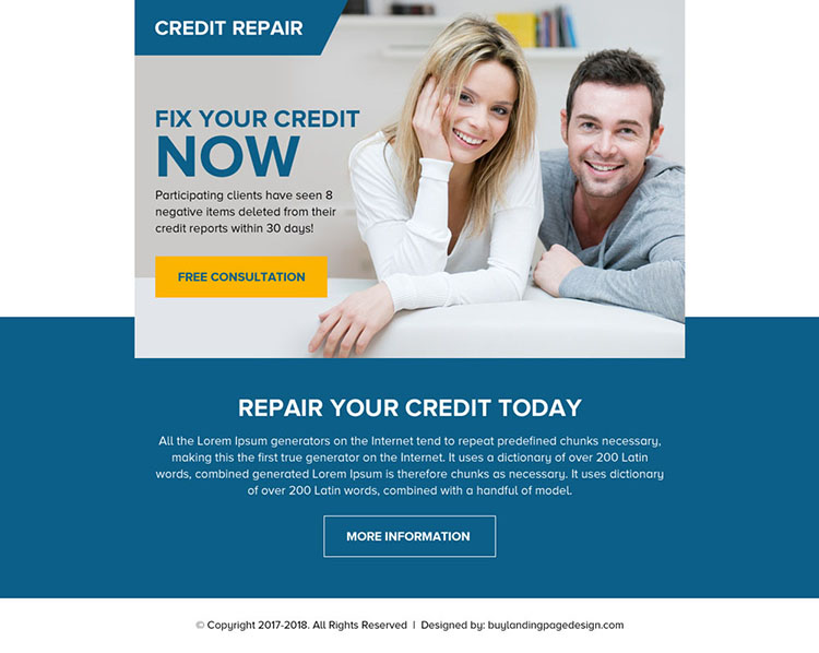 repair your credit today free consultation ppv landing page