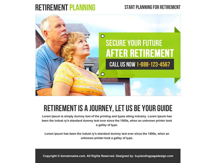 retirement planning phone call capturing ppv design